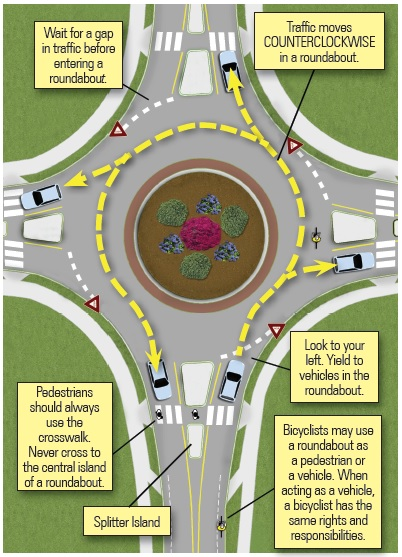 Roundabout Driving Image