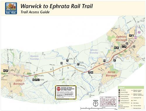 Warwick to Ephrata Rail Trail map image